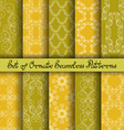 Set of 10 Ornate Seamless Patterns vector image