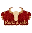 skull sheep and rock and roll vector image