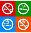 No smoking and Smoking area - Multicolored vector image vector image