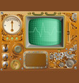 industrial steampunk media player vector image