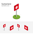switzerland flag set of 3d isometric icons vector image vector image