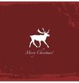 Grunge red vintage reindeer background vector image vector image