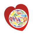 Sweet heart vector image