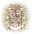 Coat of arms drawn by hand vector image vector image