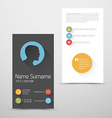 Modern vertical business card template with flat vector image