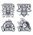 Set of viking emblems vector image