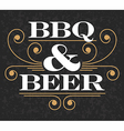 Barbecue and Beer Emblem vector image