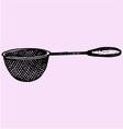 Metal kitchen sieve vector image