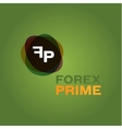 Abstract forex icon companies vector image