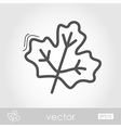 Autumn Leaves maple outline icon vector image