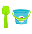 baby busket with pail vector image