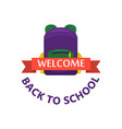 back to school calligraphic designs label style vector image