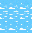 cloud over blue background sky seamless pattern vector image