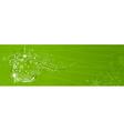 Green Christmas banner vector image