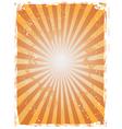 Grunge Starburst Background vector image
