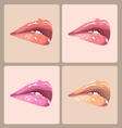 Make-up lips vector image