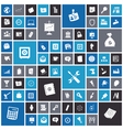 Flat design icons for business and industrial vector image vector image