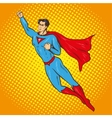 flying up superman retro vector image