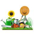 garden accessories concept vector image