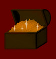 Flat shading style icon treasure chest vector image