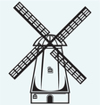 Symbol mill vector image vector image