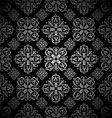 floral wallpaper silver tile vector image