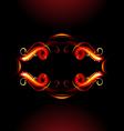 Fiery label vector image vector image