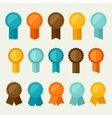 Set of colored badges labels awards in flat design vector image