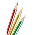 vector colored pencils vector image vector image