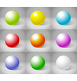 Shiny Spheres vector image vector image