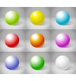 Shiny Spheres vector image