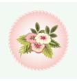 Bouquet of flowers Vignette Floral design vector image