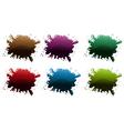 Different paint colors vector image