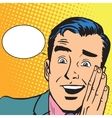 Male hearing gossip vector image