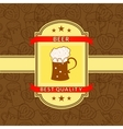 Retro beer label vector image
