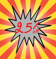 Sale 25 text vector image
