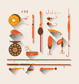 Set Fishing tackle vector image