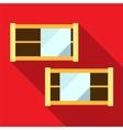 Shelf flat icon vector image