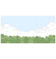 Sky Clouds Landscape vector image