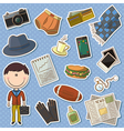 trendy man and male things vector image