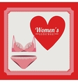 women underwear design vector image
