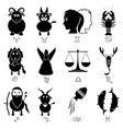 zodiac signs for astrology set of cartoon animals vector image