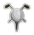 golf icon image vector image