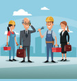 people team work construction enginerr workers vector image