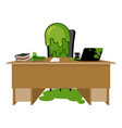 booger boss snot director sitting at table nasty vector image