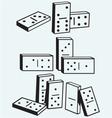 Dominoes set vector image