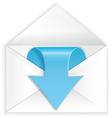 White envelope blue arrow symbol vector image vector image