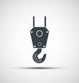 icon of industrial hook vector image vector image
