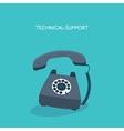 Retro telephone Technical vector image