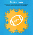american football icon Floral flat design on a vector image